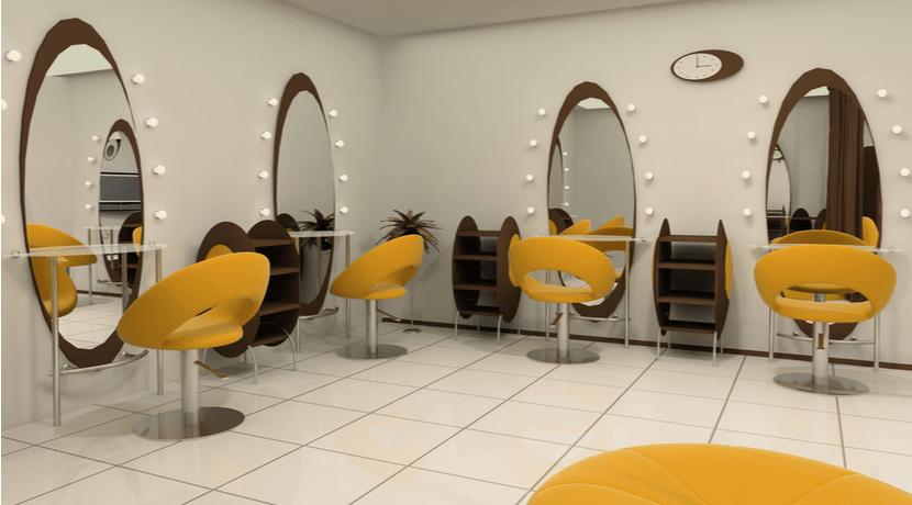美容室 鏡